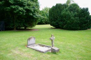 grave in park