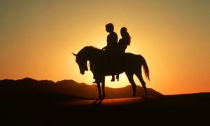couple_horse_sunset