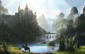 horse rider & castle