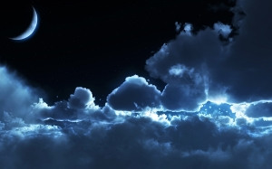 night with clouds