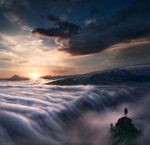 Wanderer-Above-the-Sea-of-Clouds-by-Max-Rive