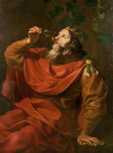 king-drinking