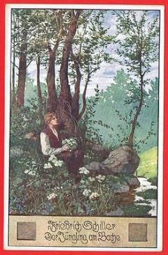 der-jungling-am-bache-postcard