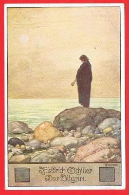 friedrich-schiller-der-pilgrim-postcard-free-pp