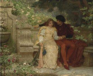 lovers in a garden