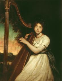 A Young Lady Playing the Harp ?exhibited 1814 by James Northcote 1746-1831