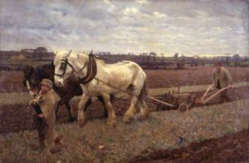 Clausen, George, 1852-1944; Ploughing