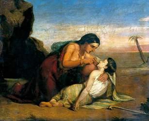 Claxton, Marshall, 1813-1881; Hagar and Ishmael at the Well